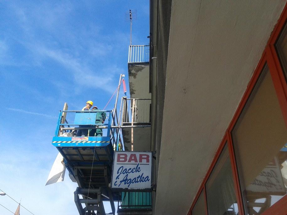 We Wrocławiu ze względów bezpieczeństwa do usunięcia jest 98 balkonów /Barbara Zielińska-Mordarska /RMF FM