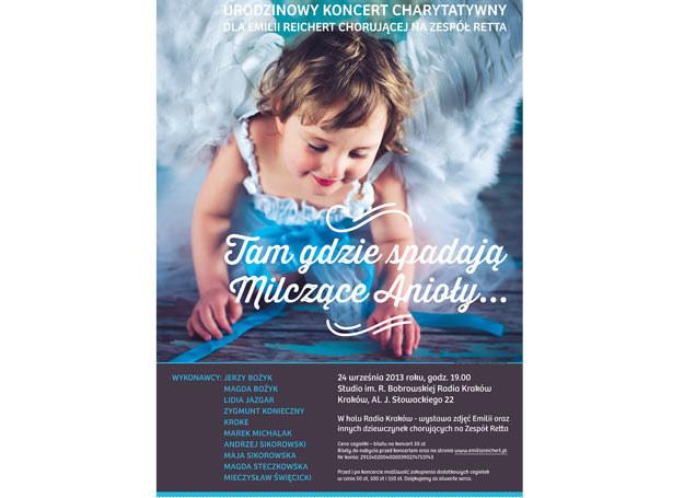 We wtorek, 24 września 2013 roku, o godzinie 19.00, w Studio im. Romany Bobrowskiej w Radio Kraków, odbędzie się Urodzinowy Koncert Charytatywny dla Emilii Reichert /INTERIA.PL