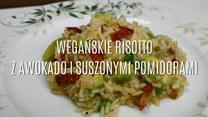 Wegańskie risotto z awokado i suszonymi pomidorami