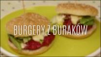 Wegetariańskie burgery z czerwonych buraków