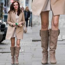 Wendzikowska z gołymi nogami w środku zimy. Nowa moda?