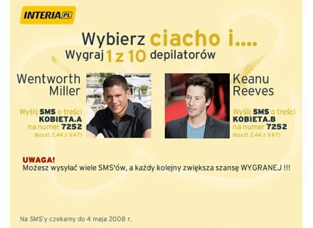 Wentworth Miller czy Keany Reeves? /INTERIA.PL