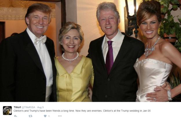 Wesele Donalda i Melanii Trumpów /Twitter