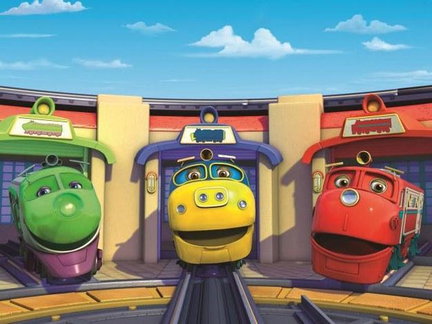 Wesołe, kolorowe lokomotywy szykują się do kolejnej podróży. Co je spotka po drodze? Na pewno wiele ciekawych przygód! /Mat. Prasowe
