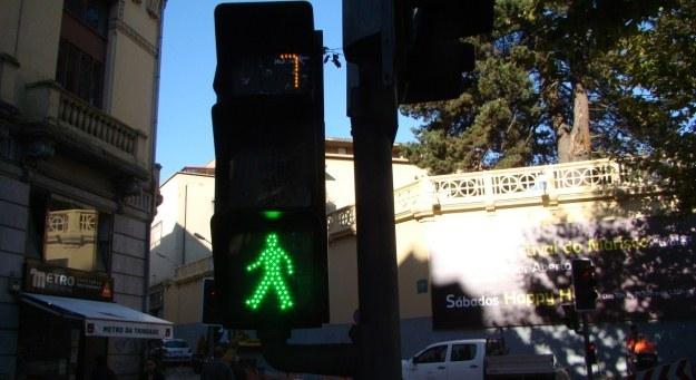 Wiadomo, ile będzie zielone, ale i tak powszechnie  przechodzi się przez jezdnię na czerwonym /INTERIA.PL