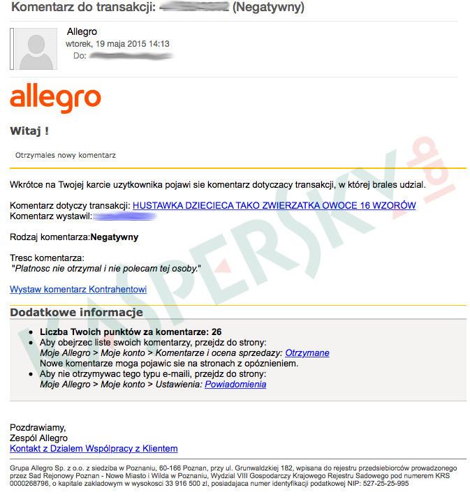 Wiadomość e-mail docierająca do użytkowników w ramach nowego ataku phishingowego. /materiały prasowe