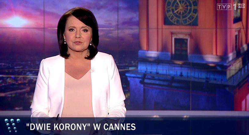 """""""Wiadomości"""" o pokazie filmu """"Dwie Korony"""" w Cannes /TVP"""