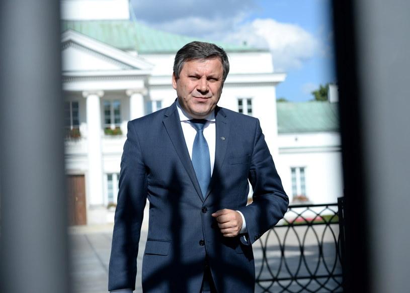 Wicepremier, lider PSL Janusz Piechociński po spotkaniu z prezydentem Bronisławem Komorowskim /Jacek Turczyk /PAP