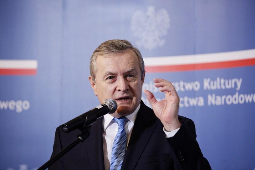 Wicepremier, minister kultury i dziedzictwa narodowego Piotr Gliński /Adam Guz /PAP