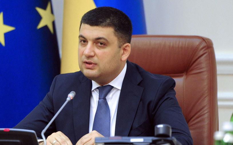 Wicepremier Ukrainy Wołodymyr Hrojsman. /AFP