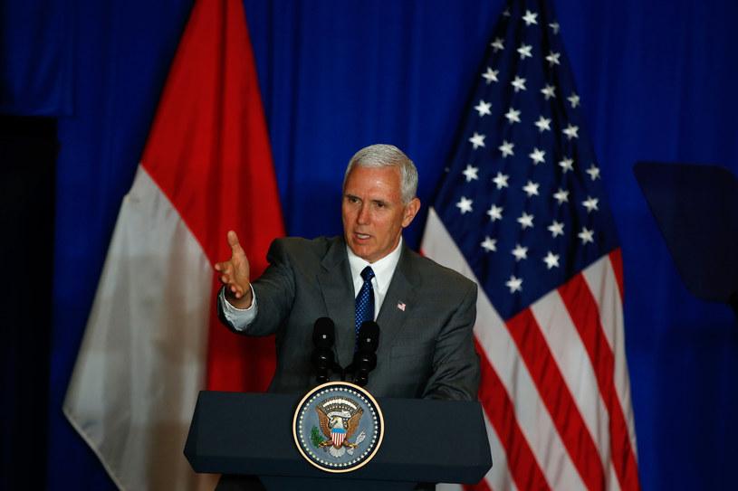 Wiceprezydent Stanów Zjednoczonych Mike Pence w Dżakarcie /DARREN WHITESIDE /AFP