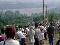 Widok na Błonia z platformy widokowej na Kopcu Kościuszki /RMF
