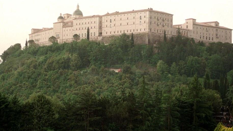 Widok na klasztor na Monte Casino /Piotr Teodor Walczak  /PAP