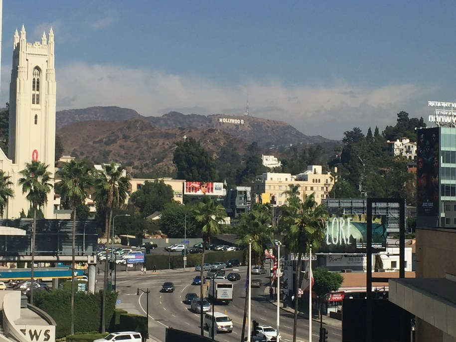 Widok na Los Angeles /Katarzyna Sobiechowska-Szuchta /RMF FM