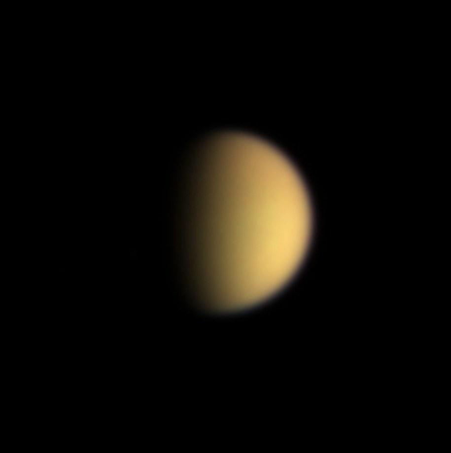 Widok Tytana sfotografowany przez sondę Cassini /NASA HANDOUT /PAP/EPA