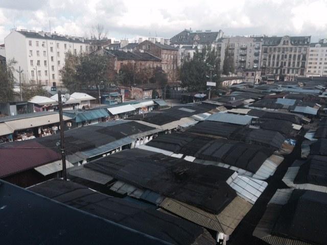 Widok z tarasu na słynny Bazar Różyckiego /Katarzyna Sobiechowska- Szuchta /RMF FM