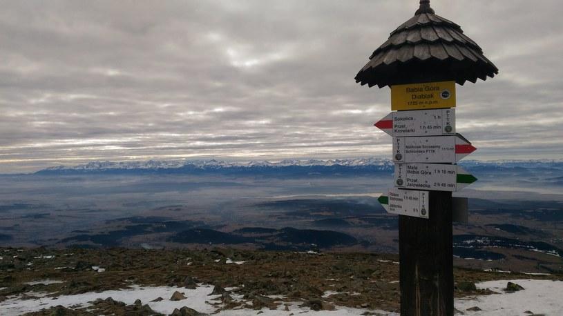 Widok ze szczytu Babiej Góry na Tatry /Dariusz Jaroń /INTERIA.PL