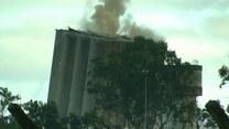 Widowiskowe wysadzanie budynku! Betonowy silos nie chciał się przewrócić!