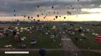 Widowiskowy festiwal balonów we Francji