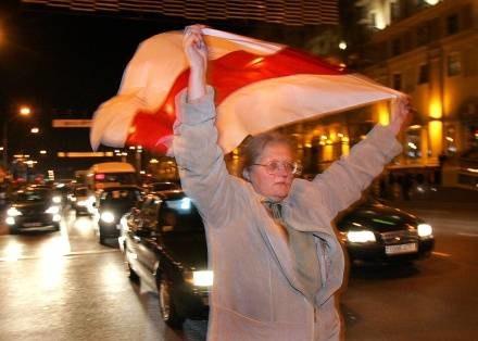 Wiec opozycji w Mińsku /AFP