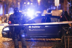 Wieczorna akcja w centrum Brukseli