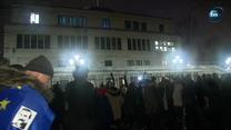 Wieczorny protest przed Senatem przeciw reformie sądownictwa. Ustawy przyjęto