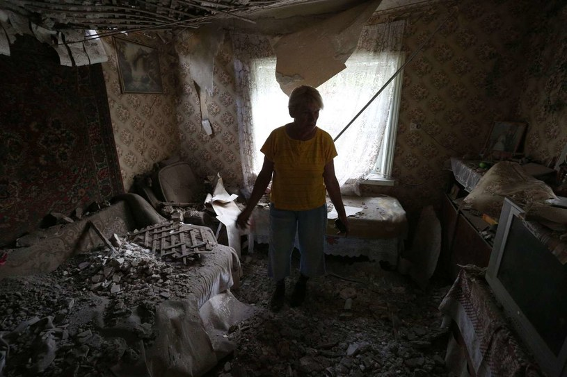 Wiele miejsc na Ukrainie jest zniszczonych wojną /AFP
