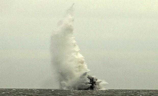 Wielka Brytania: Saperzy zdetonowali na morzu bombę z czasów II wojny światowej