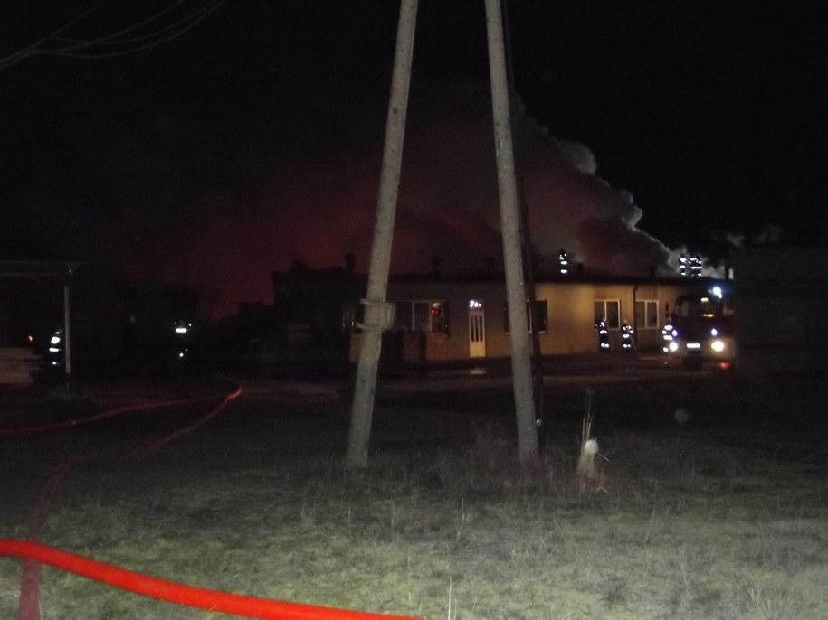 Wielkopolska: Pożar fabryki palet w Grabowie. Straty oszacowano na ponad milion złotych /Ostrzeszów /PSP