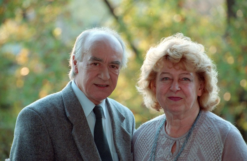 Wiesław Michnikowski z żoną w 1995 roku /Zenon Zyburtowicz /Fotonova