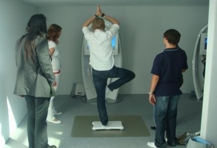 Wii Fit w praktyce na targach Games Convention /INTERIA.PL - Łukasz Kujawa