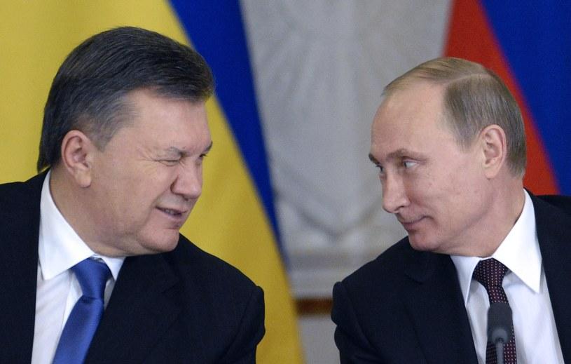 Wiktor Janukowycz i Władimir Putin /AFP