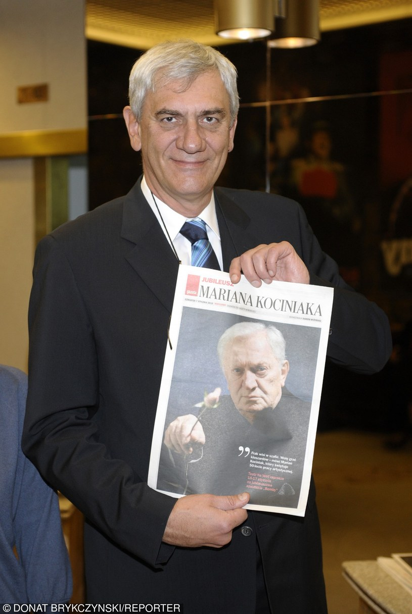 Wiktor Zborowski w 2010 roku podczas jubileuszu 50-lecia pracy artystycznej Mariana Kociniaka /Donat Brykczyński /Reporter