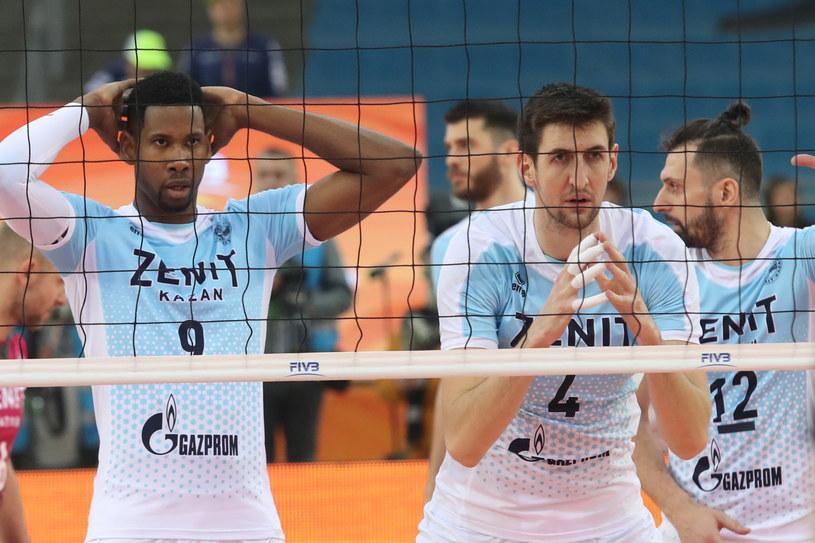 Wilfredo Leon (z lewej) przygotowany do bloku /Marek Klinski /PAP