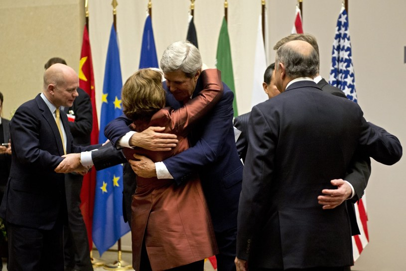 William Hague, Guido Westerwelle, Catherine Ashton, Mohammad-Javad Zarif, Wang Yi, John Kerry, Siergiej Ławrow, Laurent Fabius /PAP/EPA