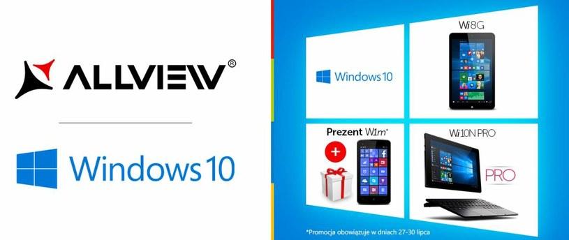 Windows 10 - tablety Allview /materiały prasowe