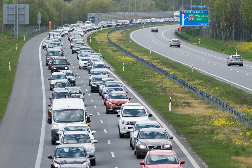 Wiodąca nad morze autostrada A1 szczególne oblężenie przeżywa latem /Łukasz Piecyk /Reporter