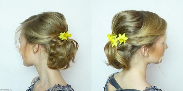 Wiosenna fryzura ślubna
