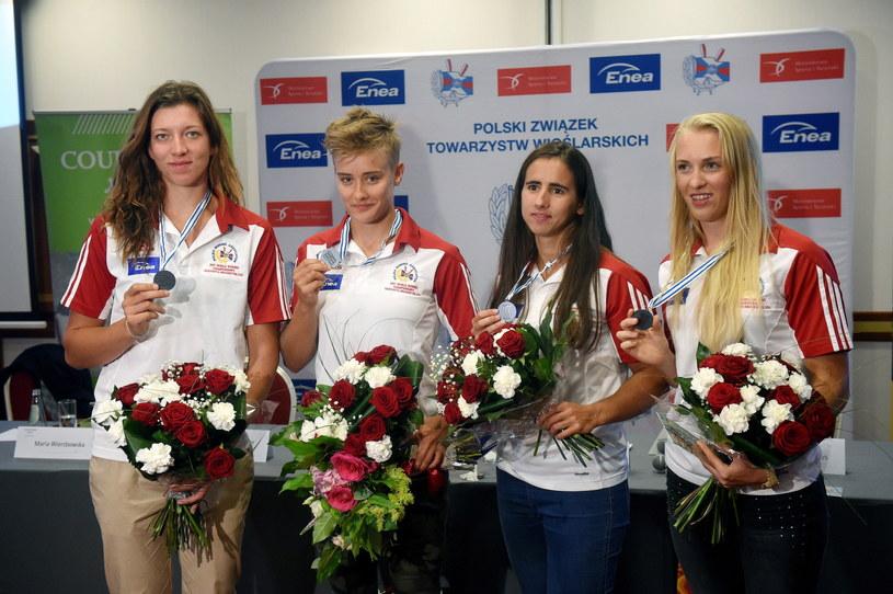 Wioślarki (od lewej): Marta Wieliczko, Katarzyna Zillman, Maria Springwald i Agnieszka Kobus /Radek Pietruszka /PAP
