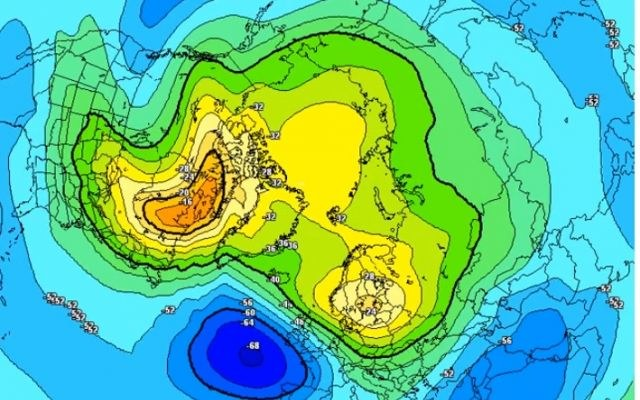 Wir polarny docierający do północnej Grenlandii zmierza w kierunku Kanady i północnej części Europy /materiały prasowe
