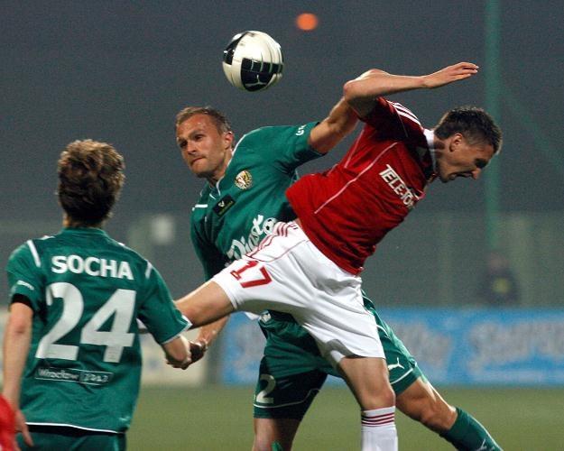 Wisła w ostatnim ligowym meczu przegrała ze Śląskiem Fot. Grzegorz Hawałej /PAP