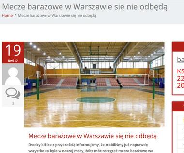 Wisła Warszawa oddaje walkowerem dwa mecze o awans do OrlenLigi