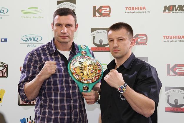 Witalij Kliczko i Tomasz Adamek /Getty Images/Flash Press Media