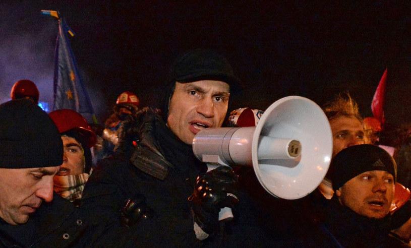 Witalij Kliczko, jeden z liderów ukraińskiej opozycji. /AFP
