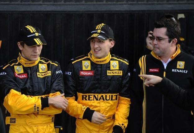 Witalij Pietrow, Robert Kubica i szef zespołu Eric Boullier /AFP