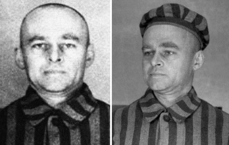 Witold Pilecki w stroju więziennym, Auschwitz /Laski Diffusion /East News