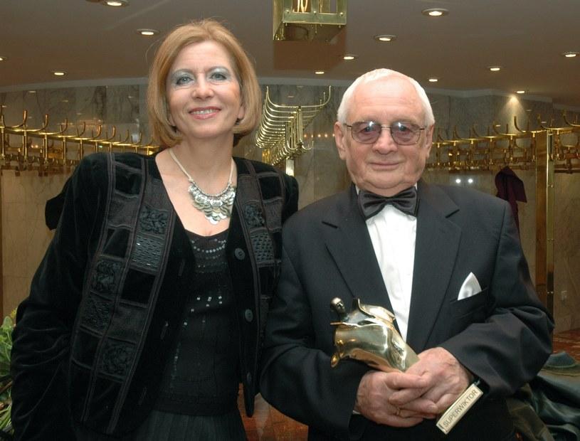 Witold Pyrkosz z żoną /MWMedia