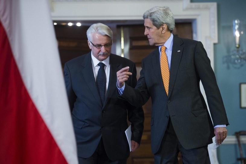 Witold Waszczykowski i John Kerry /PAP/EPA
