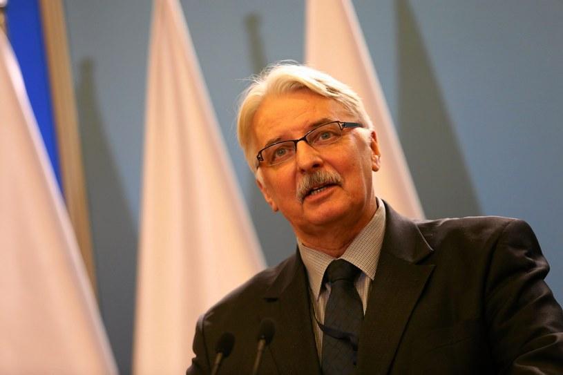 Witold Waszczykowski, minister spraw zagranicznych /Franciszek Mazur /