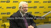"""Witold Waszczykowski składa życzenia urodzinowe Donaldowi Trumpowi w Porannej rozmowie w RMF FM. """"Nie zaśpiewał pan jak Marilyn Monroe"""""""
